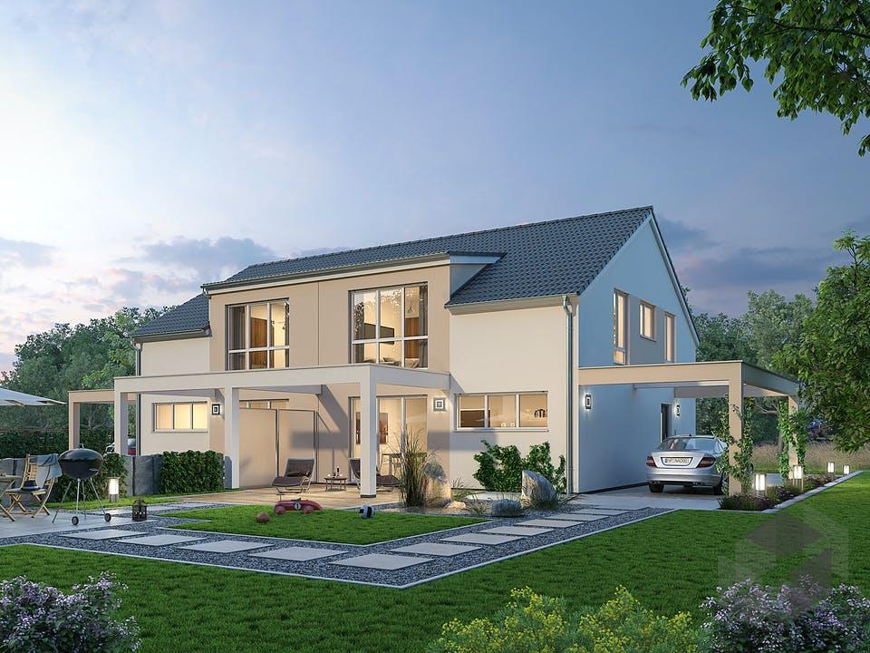 Doppelhaus DHH 119 von Ytong Bausatzhaus Außenansicht