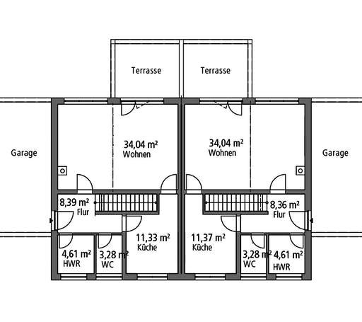 Ytong Doppelhaus DHH 119 Floorplan 1
