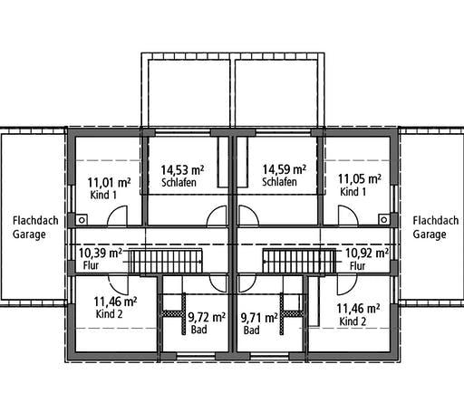 Ytong Doppelhaus DHH 119 Floorplan 2