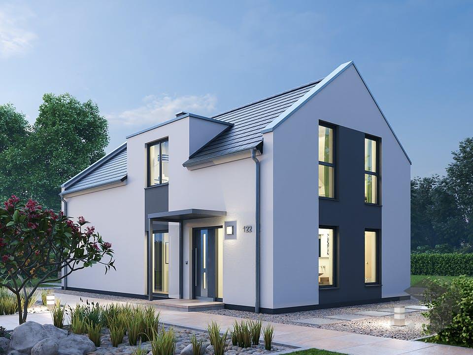 Einfamilienhaus EFH 122 von Ytong Bausatzhaus Außenansicht