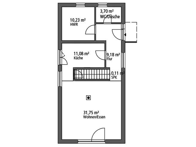 Einfamilienhaus EFH 122 von Ytong Bausatzhaus Grundriss 1