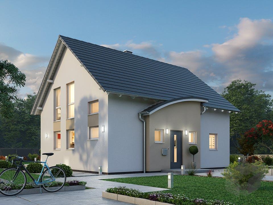 Einfamilienhaus EFH 124 von Ytong Bausatzhaus Außenansicht