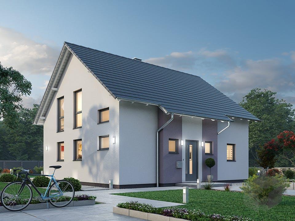 Einfamilienhaus EFH 136 von Ytong Bausatzhaus Außenansicht