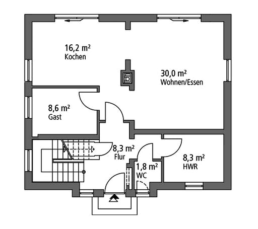 Ytong Einfamilienhaus 136 Floorplan 1