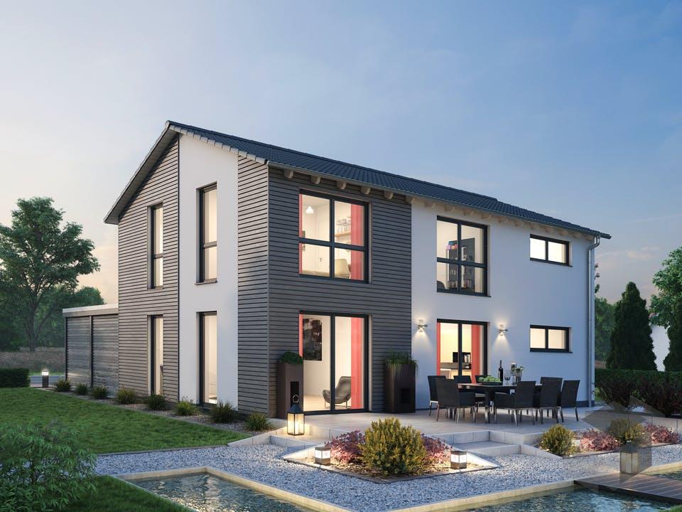 Einfamilienhaus EFH 139 von Ytong Bausatzhaus Außenansicht