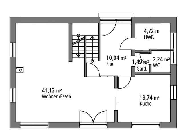 Einfamilienhaus EFH 139 von Ytong Bausatzhaus Grundriss 1