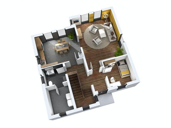 Einfamilienhaus EFH 142 von Ytong Bausatzhaus Grundriss 1