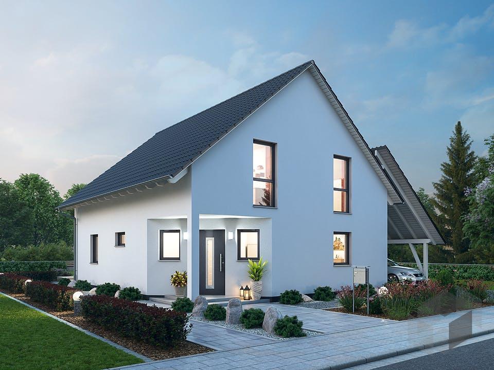 Einfamilienhaus EFH 143 von Ytong Bausatzhaus Außenansicht
