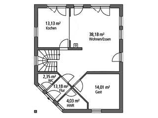 Einfamilienhaus EFH 143 von Ytong Bausatzhaus Grundriss 1