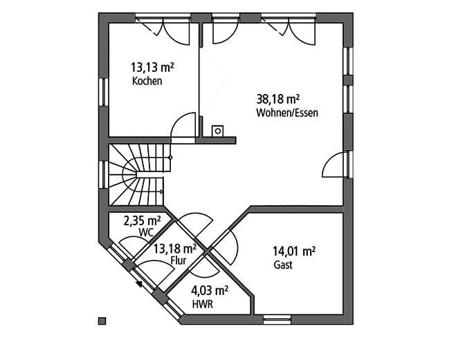 Ytong Einfamilienhaus 143 Floorplan 1
