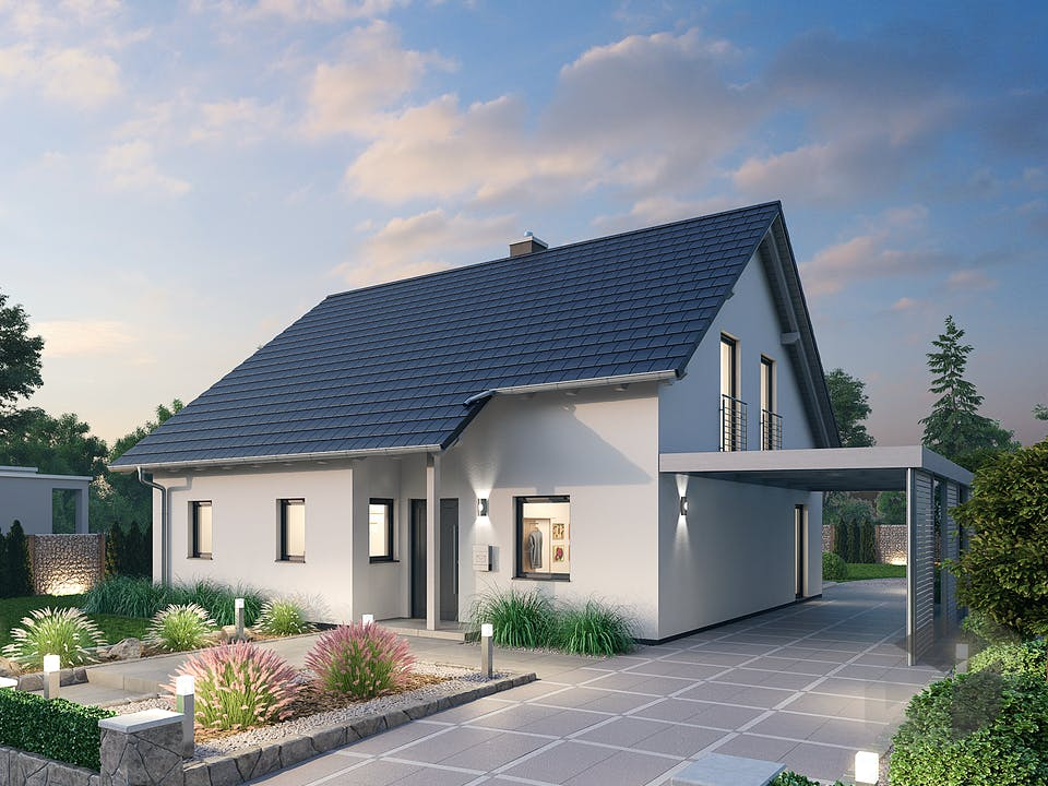 Einfamilienhaus EFH 144 von Ytong Bausatzhaus Außenansicht