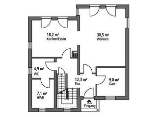 Einfamilienhaus EFH 144 von Ytong Bausatzhaus Grundriss 1