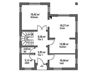 Einfamilienhaus EFH 147 von Ytong Bausatzhaus Grundriss 1