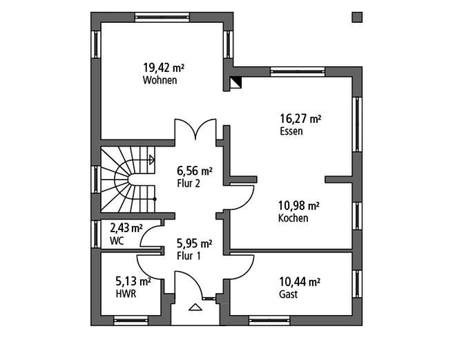 Ytong Einfamilienhaus 147 Floorplan 1