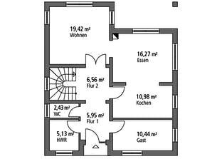 Einfamilienhaus EFH 147 Grundriss