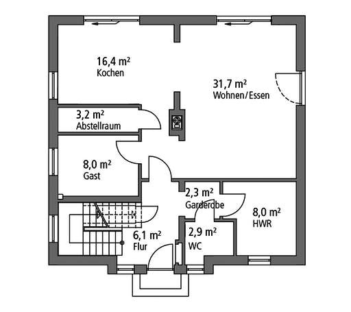 Ytong Einfamilienhaus 148 Floorplan 1