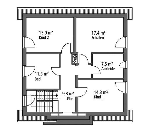 Ytong Einfamilienhaus 148 Floorplan 2