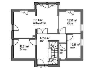 Einfamilienhaus EFH 151 von Ytong Bausatzhaus Grundriss 1
