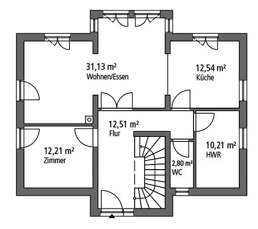 Ytong Einfamilienhaus 151 Floorplan 1