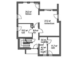 Einfamilienhaus EFH 173 von Ytong Bausatzhaus Grundriss 1