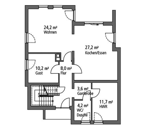 Ytong Einfamilienhaus 173 Floorplan 1