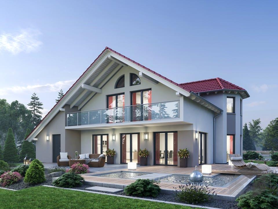 Einfamilienhaus EFH 190 von Ytong Bausatzhaus Außenansicht