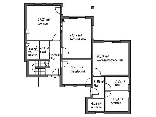 Ytong Mehrgenrationenhaus MGH 232 Floorplan 1