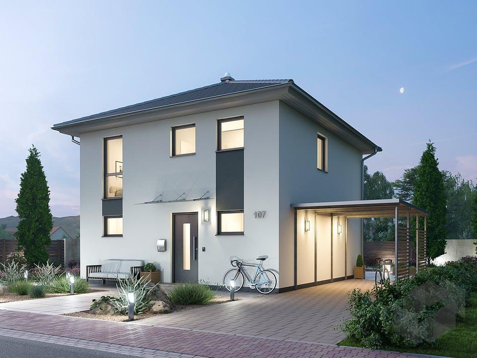 Stadtvilla STV 107 von Ytong Bausatzhaus Außenansicht