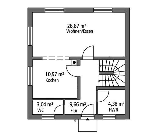 Ytong Stadtvilla STV 107 Floorplan 1