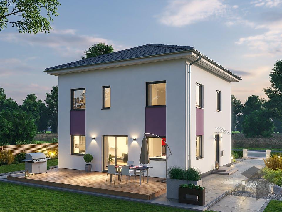Stadtvilla STV 122 von Ytong Bausatzhaus Außenansicht