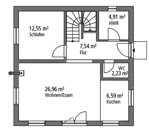 Ytong Stadtvilla STV 122 Floorplan 1