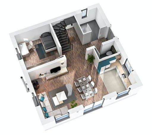 Ytong Stadtvilla STV 122 Floorplan 3