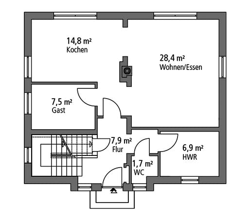 Ytong Stadtvilla STV 133 Floorplan 1
