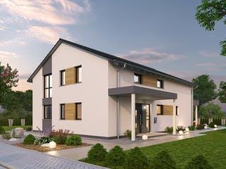 Zweifamilienhaus ZFH 244 von Ytong Bausatzhaus Außenansicht 1