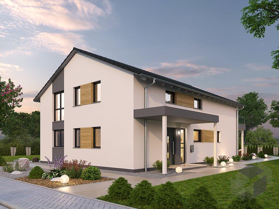 Zweifamilienhaus ZFH 244 von Ytong Bausatzhaus Außenansicht