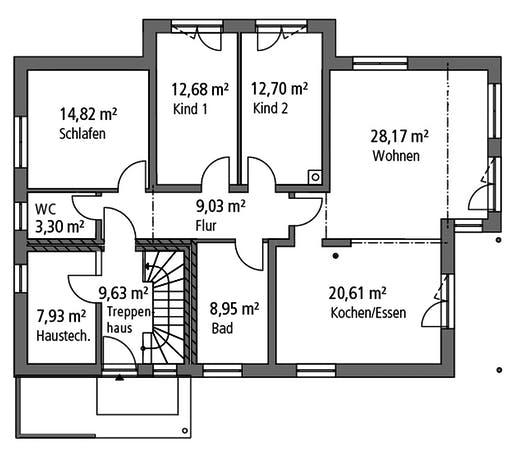 Ytong Zweifamilienhaus ZFH 244 Floorplan 1