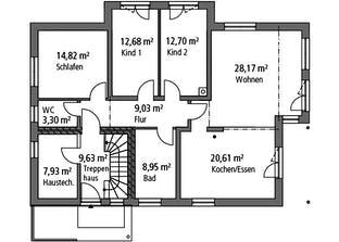 Zweifamilienhaus ZFH 244 Grundriss
