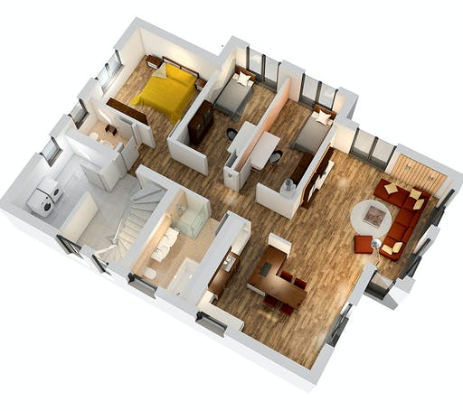 Ytong Zweifamilienhaus ZFH 244 Floorplan 3