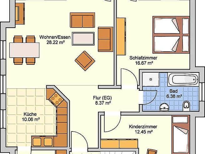 Apart von Fingerhut Haus Grundriss 1