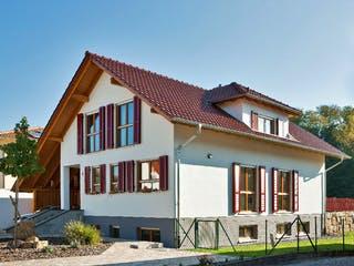 Kundenhaus Eichner von Zaunmüller Massivhaus Außenansicht 1