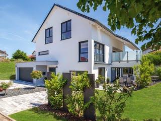 Kundenhaus Heuberger von Zaunmüller Massivhaus Außenansicht 1