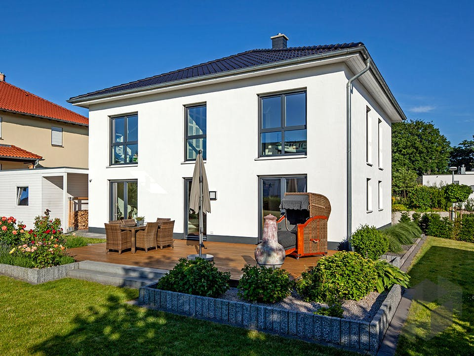 Kundenhaus Ihle von Zaunmüller Massivhaus Außenansicht