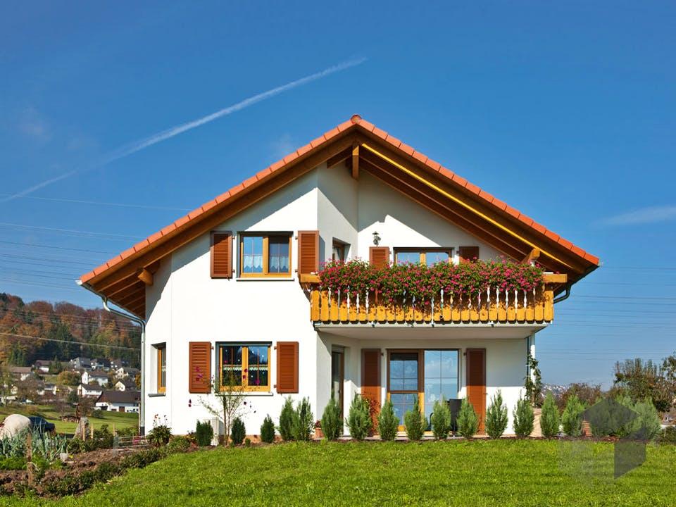 Kundenhaus Niedermayer von Zaunmüller Massivhaus Außenansicht