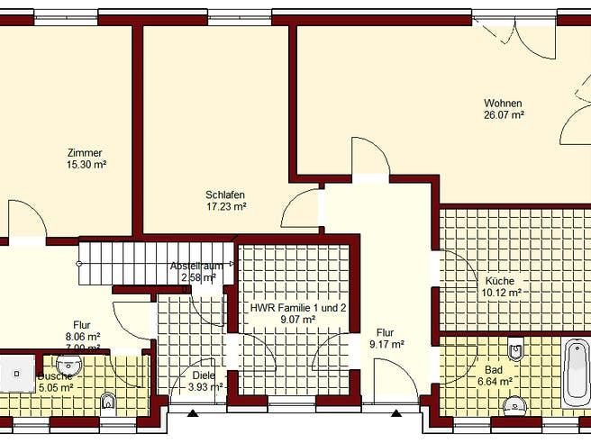 Zweifamilienhaus Spandau Floorplan 1