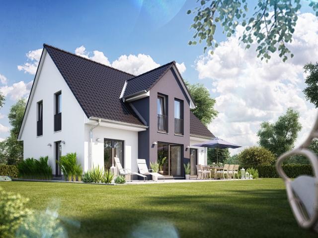 Heinz von Heiden infamilienhaus Alto610 Putz Garten